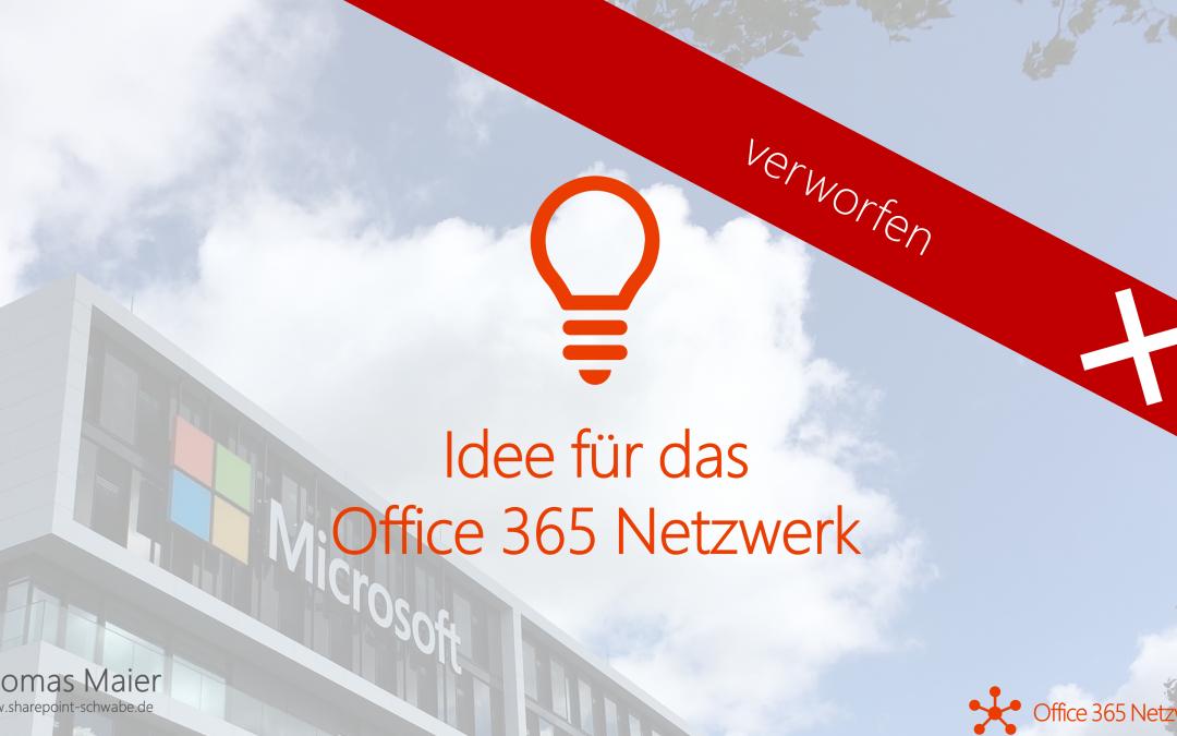 Office 365 Community als Namen – oder doch nicht