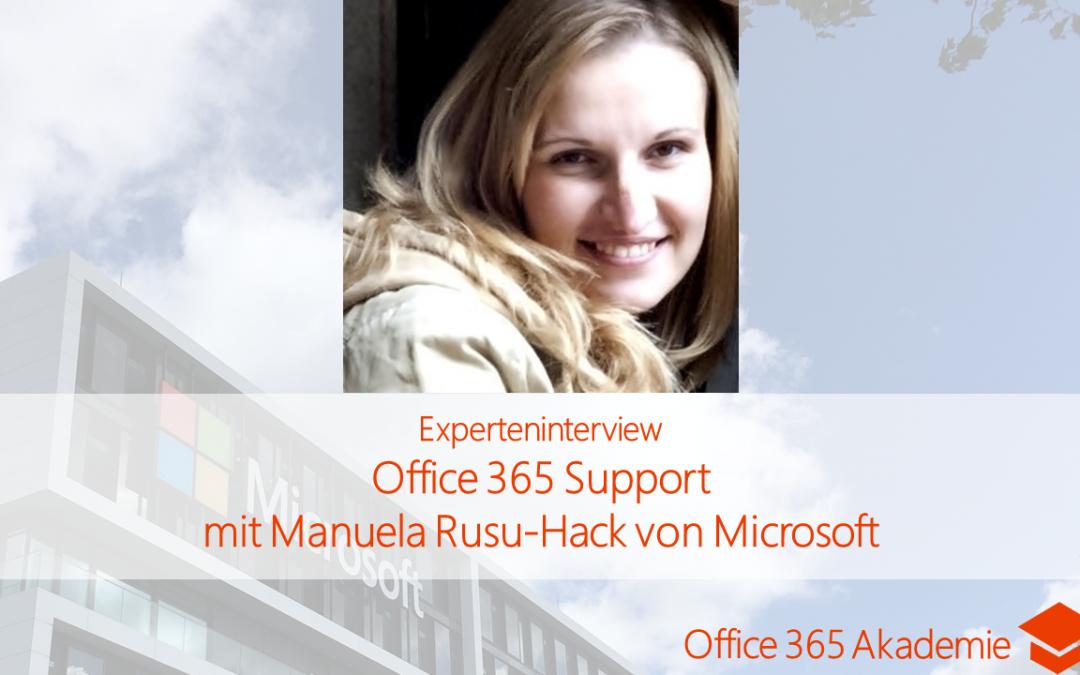 Office 365 Support mit Manuela Rusu-Hack von Microsoft