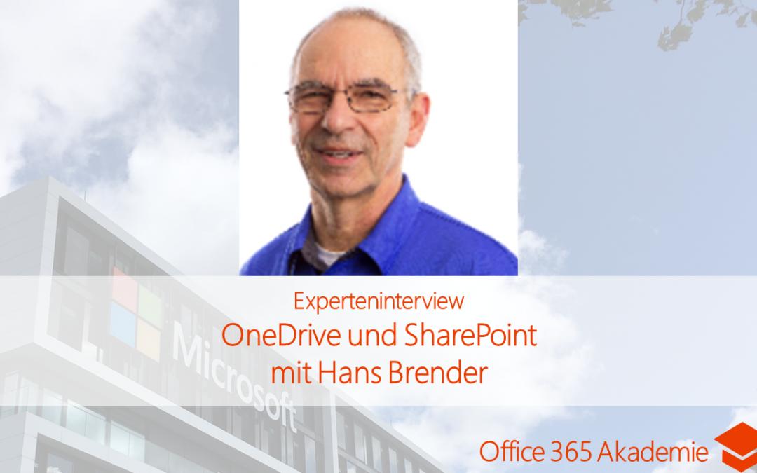 OneDrive und SharePoint mit Hans Brender