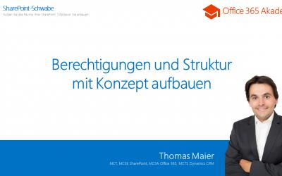 """Vortrag """"Berechtigung und Struktur"""" auf der ShareConf"""