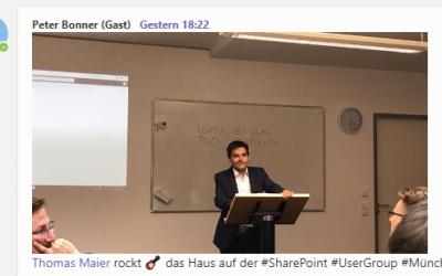 Teams – Deep Dive Collaboration Vortrag auf SharePoint User Group Treffen