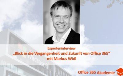 """Experteninterview mit Markus Widl: """"Blick in die Vergangenheit und Zukunft von Office 365"""" mit Buch Verlosung"""