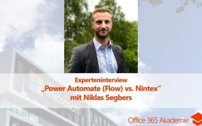 "Experteninterview mit Niklas Segbers: ""Power Automate (Flow) vs. Nintex"""
