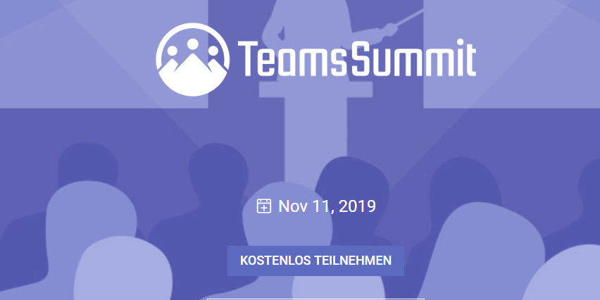 Virtueller Teams Summit am 11.11.2019