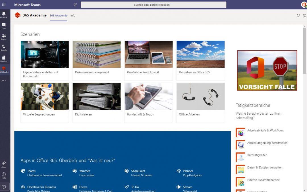 Die neue Office 365 Akademie Teams App ist da!
