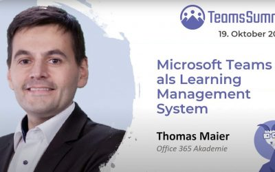 Teams Summit Vortrag – Microsoft Teams als Learning Management System