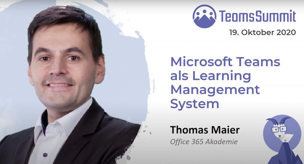 Teams Summit Vortrag – Microsoft Teams als Learning Management System