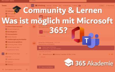 Community & Lernen – was ist möglich mit Microsoft 365