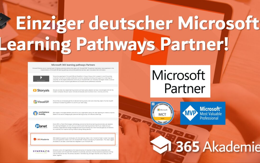 Wir sind einziger deutscher Microsoft Learning Pathways Partner!