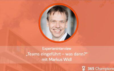 Experteninterview mit Markus Widl: Teams eingeführt – was dann?