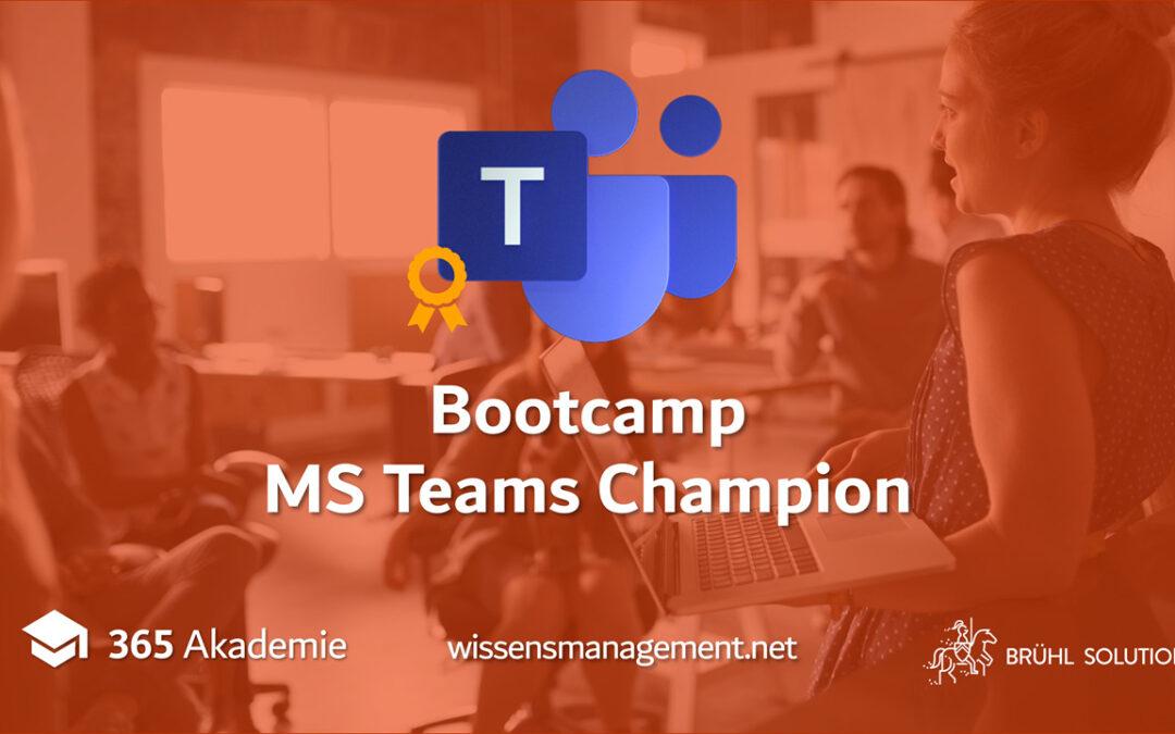 Ausbildungsbootcamp: Werde zum MS Teams Champion! 🏆