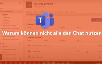 Demovideo: Warum können nicht alle den Chat nutzen?
