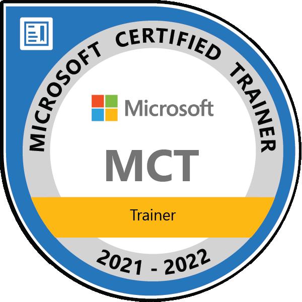 Microsoft 365: MCT Auszeichnung Thomas Maier 2021-2022