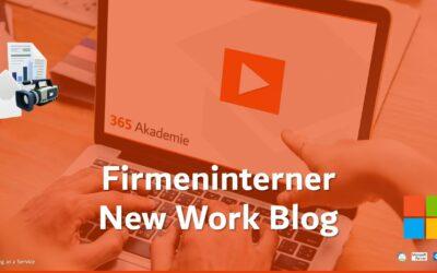 Firmeninterner New Work Blog