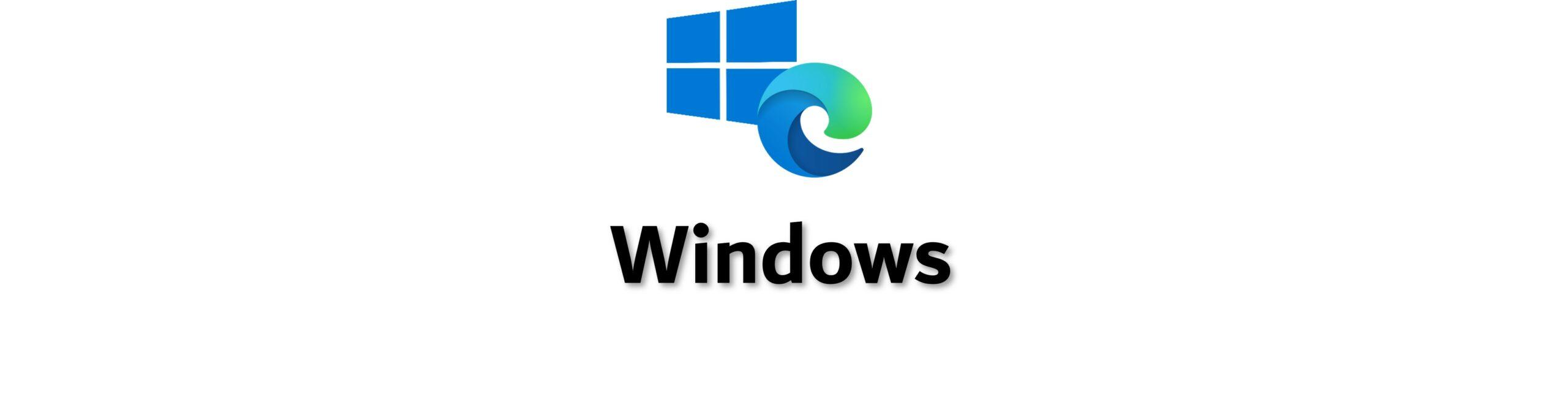 Windows und Edge Logo