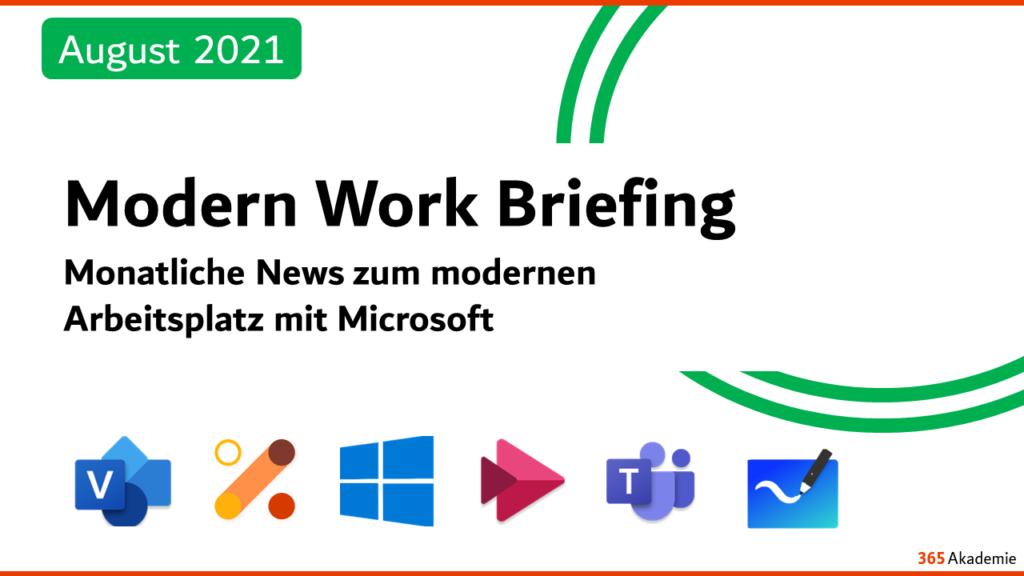 Modern Work Briefing August