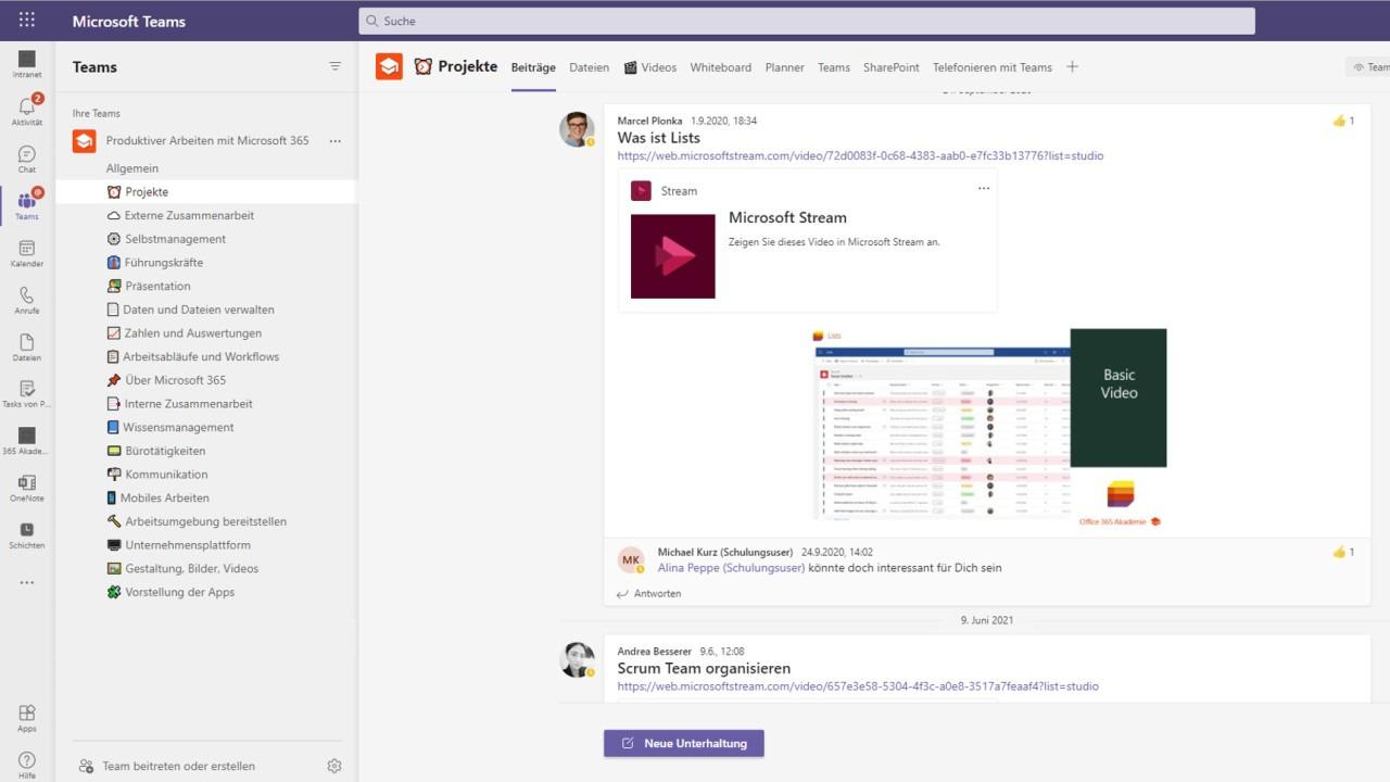 Mitarbeiter auf dem Laufenden halten über Microsoft Teams