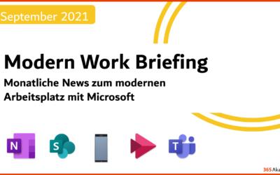 Briefing September 2021