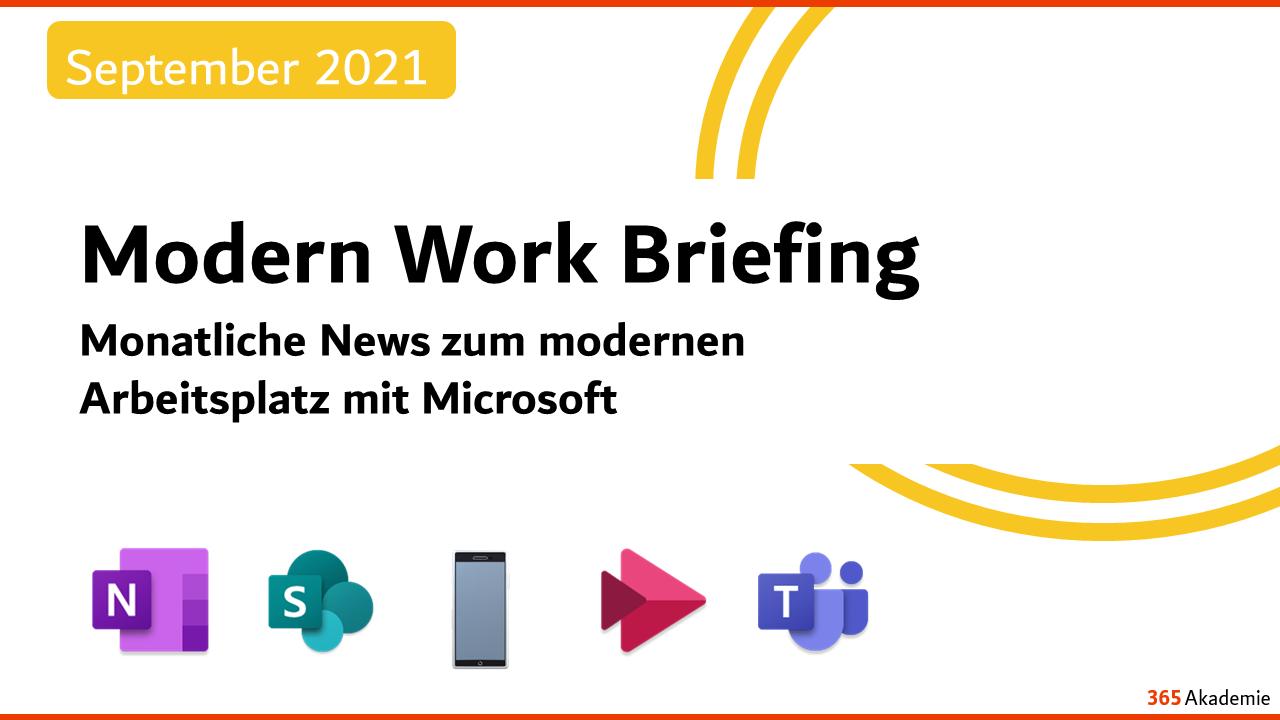 Modern Work Briefing September