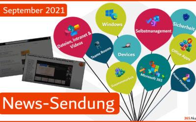 📣 Microsoft 365 – Neuigkeiten im September
