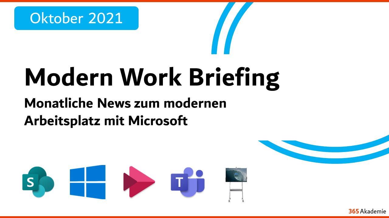 News zum modernen Arbeitsplatz mit Microsoft