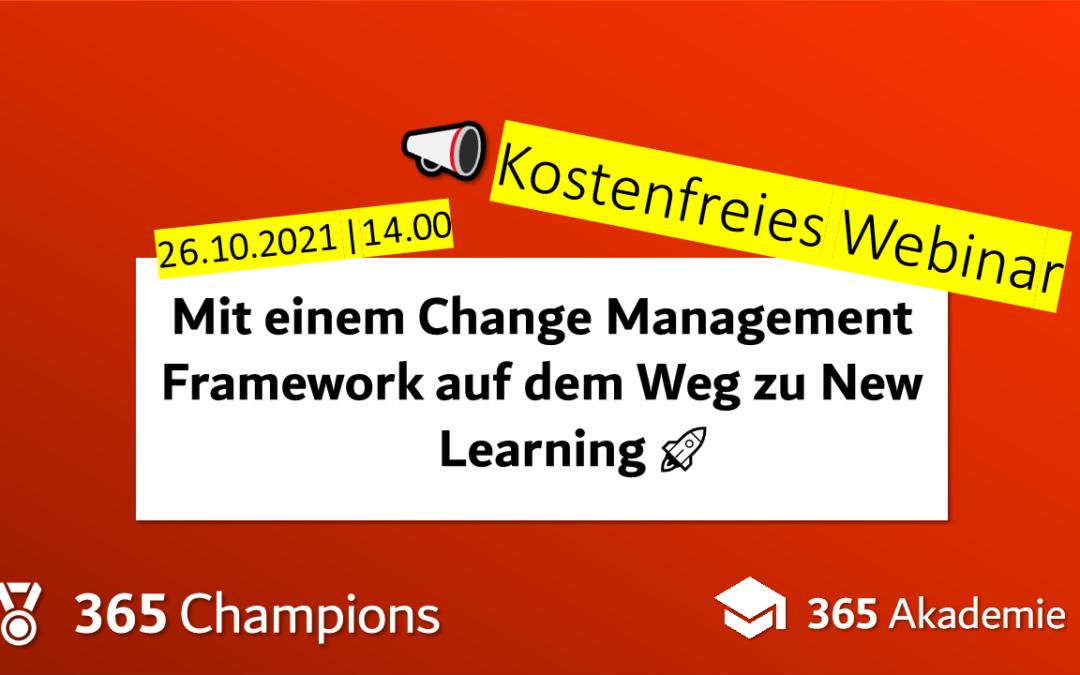 Mit einem Change Management Framework auf dem Weg zu New Learning! 🚀