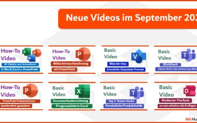 Entdecke unsere neuen Videos 🔍🎬 – September 2021