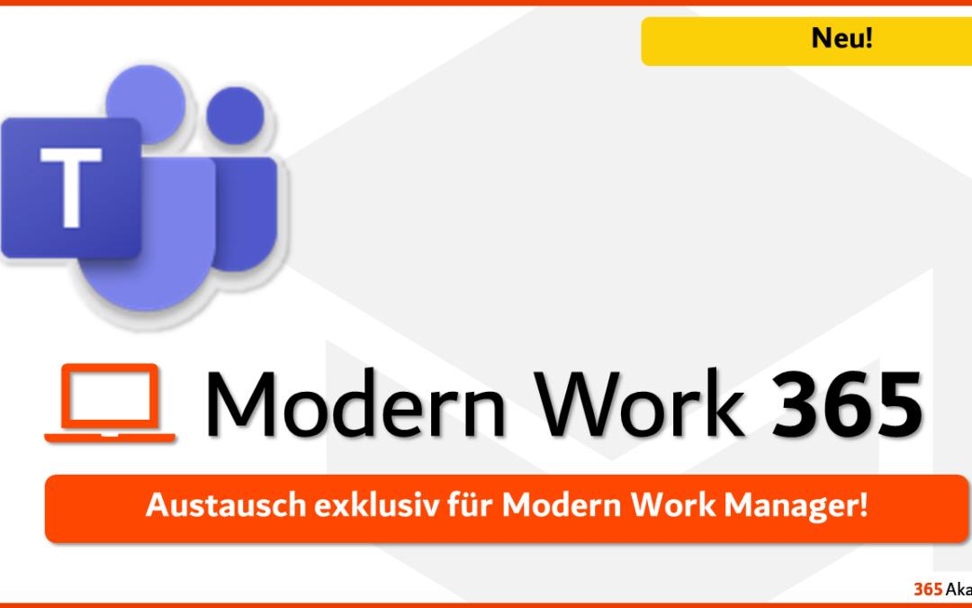 Austausch und News für Modern Work Manager