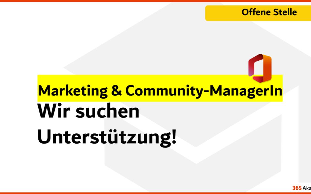 Marketing- und Community-ManagerIn im Bereich Microsoft 365 für unser Team gesucht
